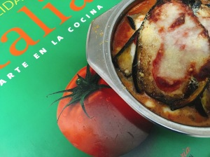 Berenjena a la parmigiana puredepalabras