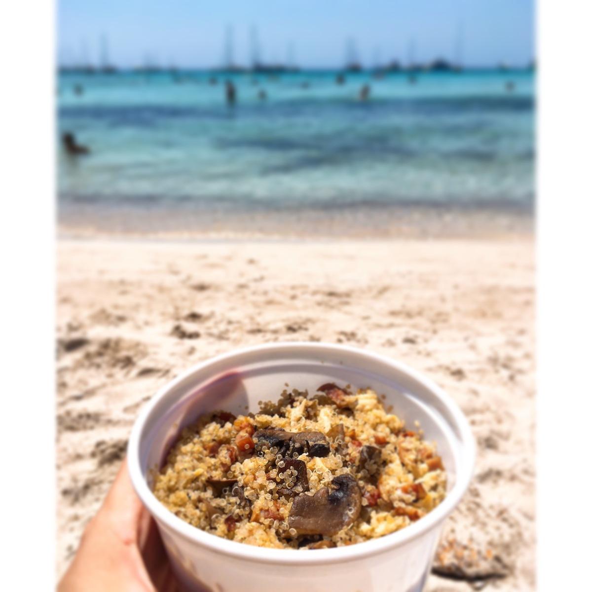 Carbonara de quinoa puredepalabras