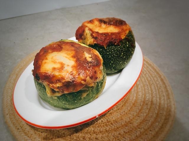 calabacines rellenos de verduras puredepalabras
