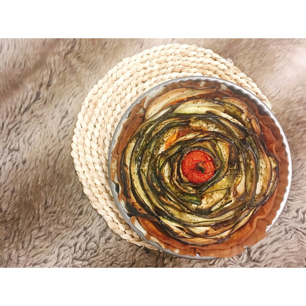 tarta de verduras en espiral puredepalabras