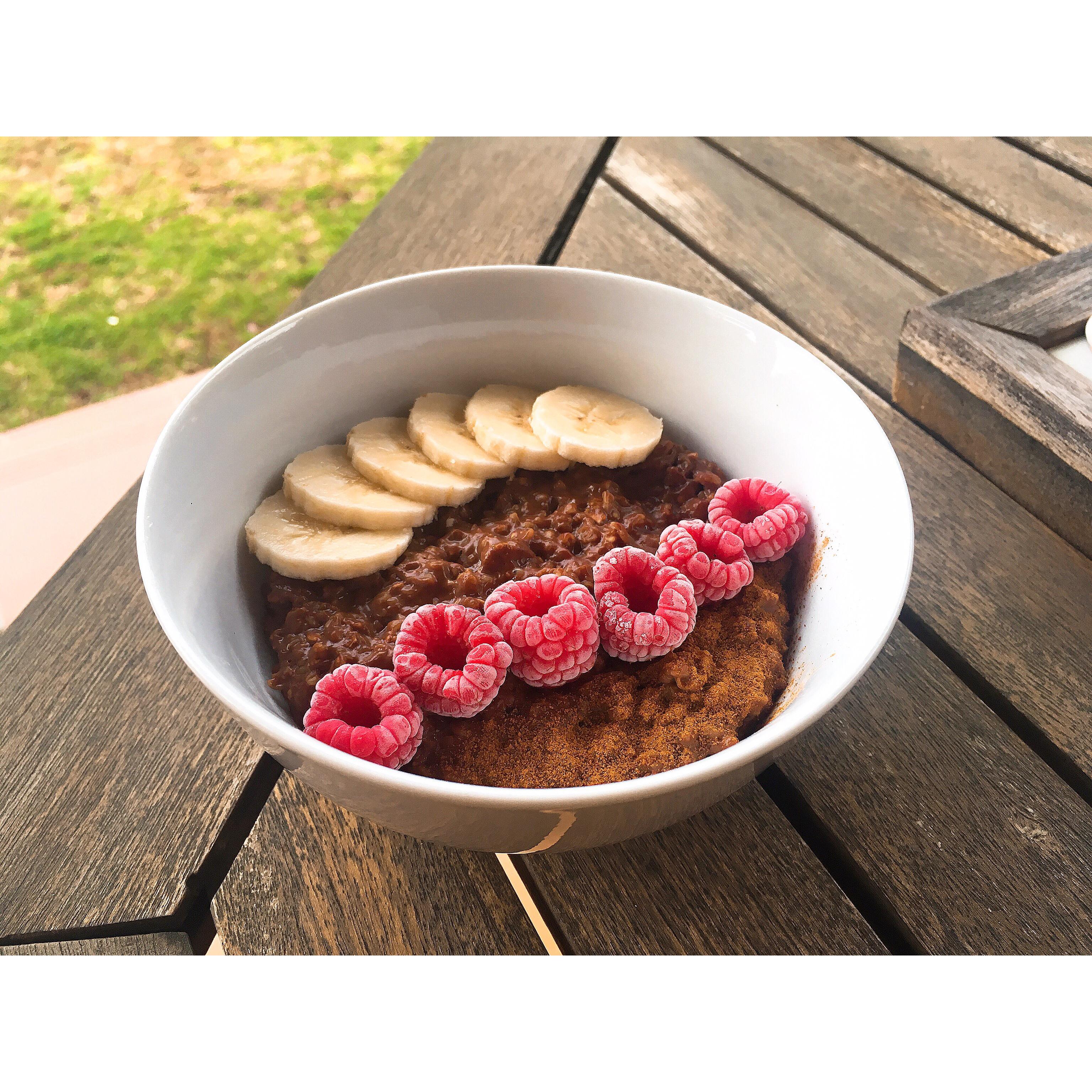 Porridge de avena y cacao puredepalabras