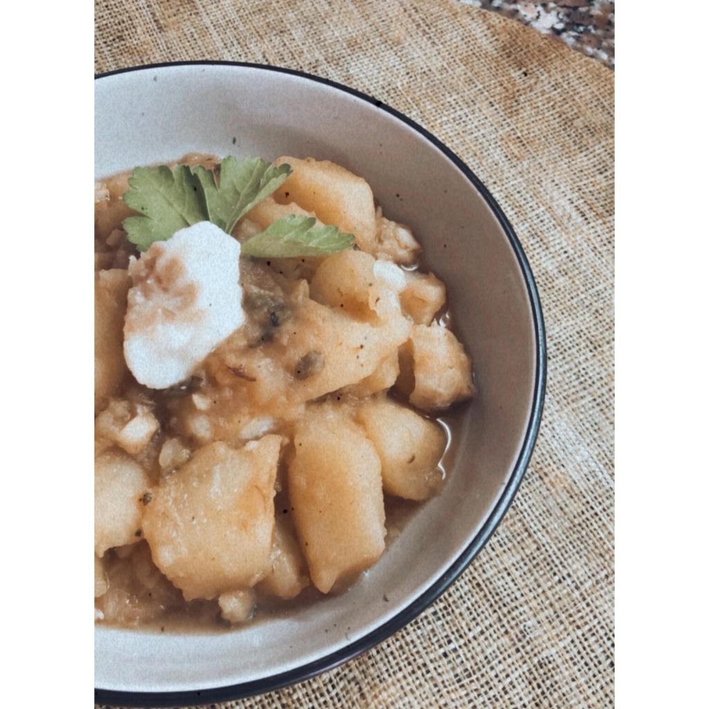 Bacalao con patatas. Foto: @puredepalabras