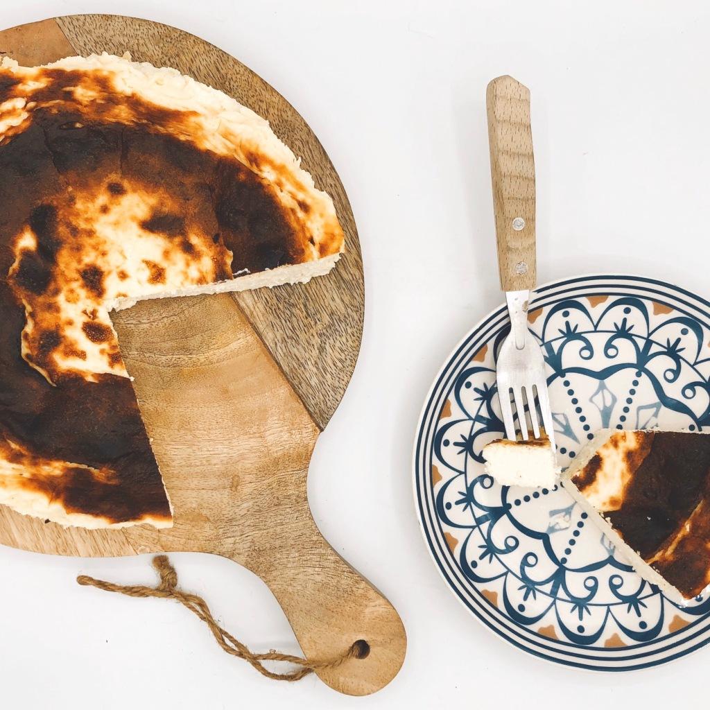 Cheesecake horneado sin azúcar. Foto: @puredepalabras