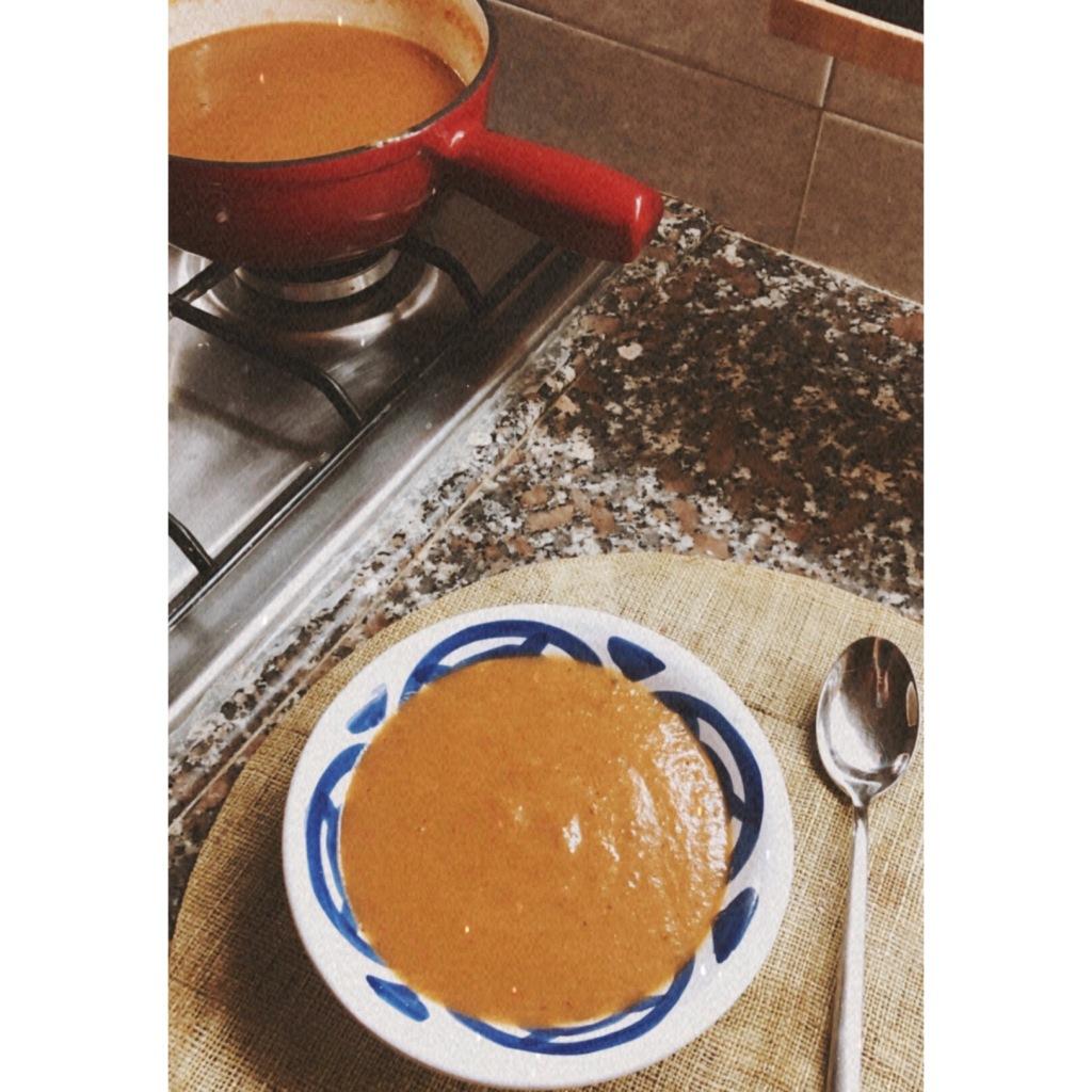 Crema de tomates asados. Foto: @puredepalabras