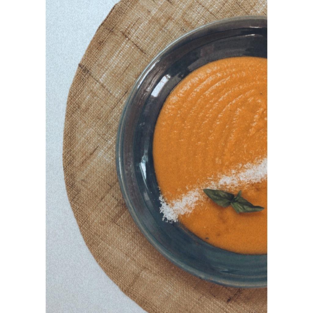 Crema de zanahoria, boniato y coco. Foto: @puredepalabras