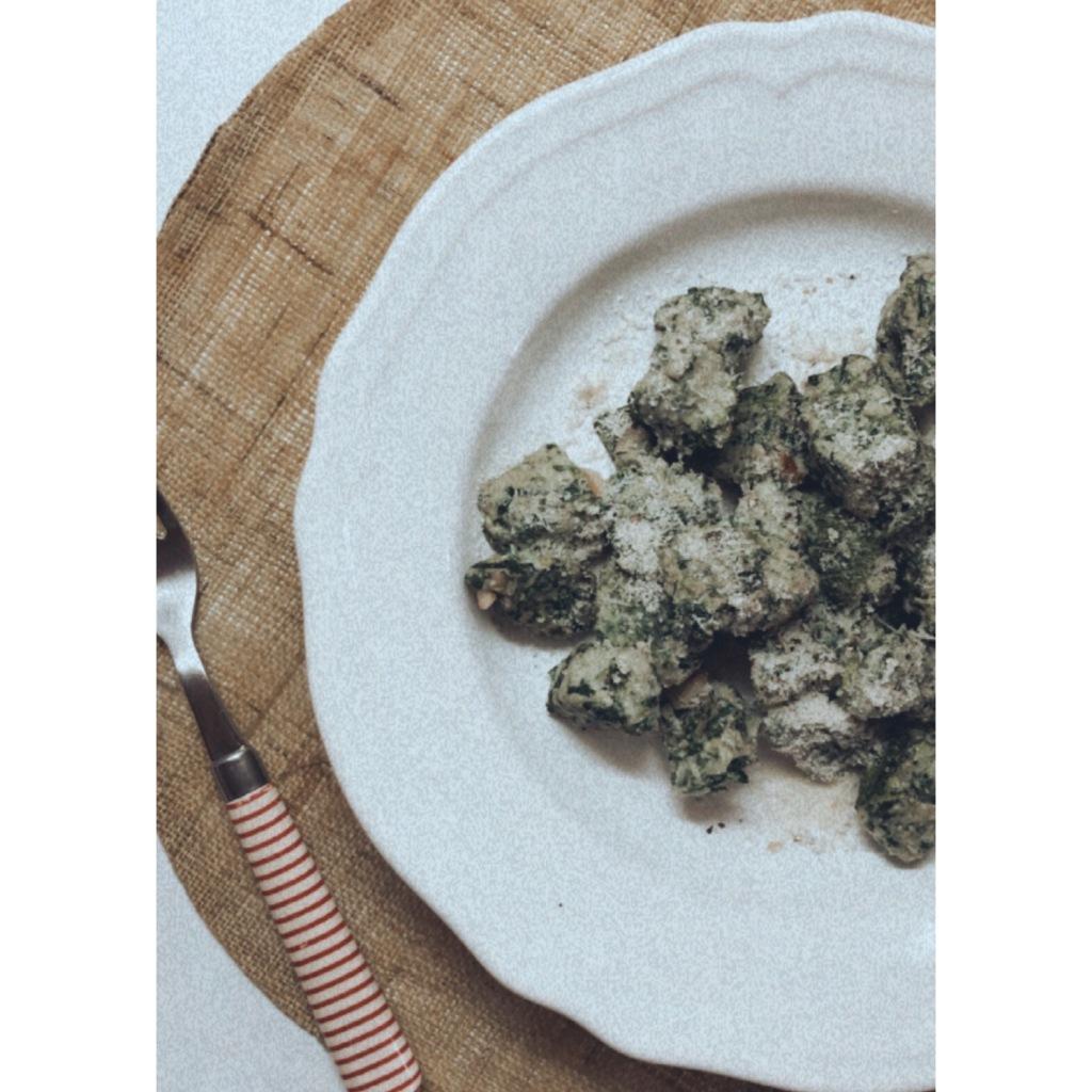 Gnocchi de espinacas sin harina / sin patata. Foto: @puredepalabras