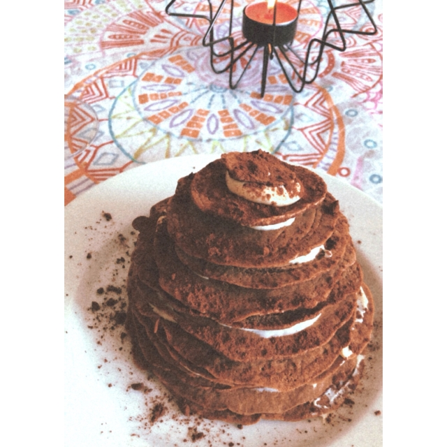 Chocolate pancakes christmas tree
